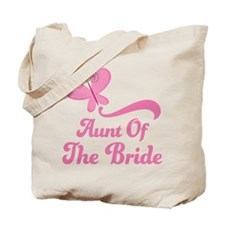 Aunt of the Bride Butterfly Tote Bag