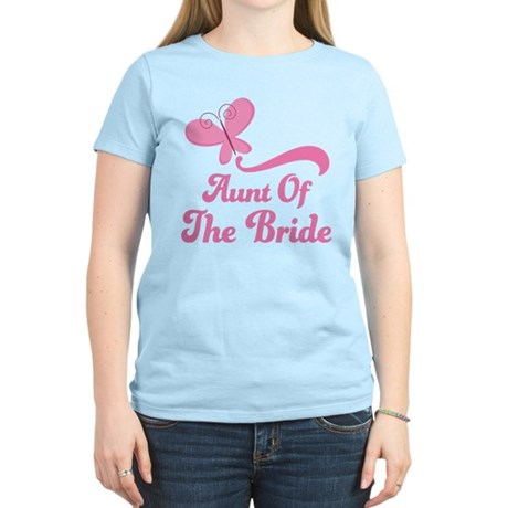 Aunt of the Bride Butterfly Women's Light T-Shirt
