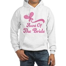 Aunt of the Bride Butterfly Hoodie