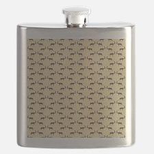 Deer Stag Pattern on Beige. Flask