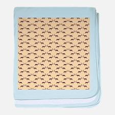 Deer Stag Pattern on Beige. baby blanket