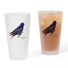 Purple Martin Drinking Glass