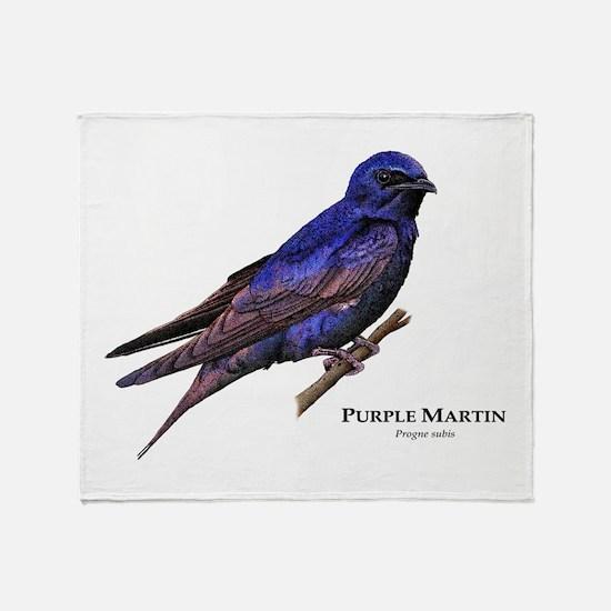 Purple Martin Throw Blanket