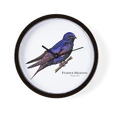 Purple Martin Wall Clock