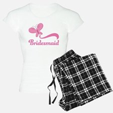 Bridesmaid Pink Butterfly pajamas
