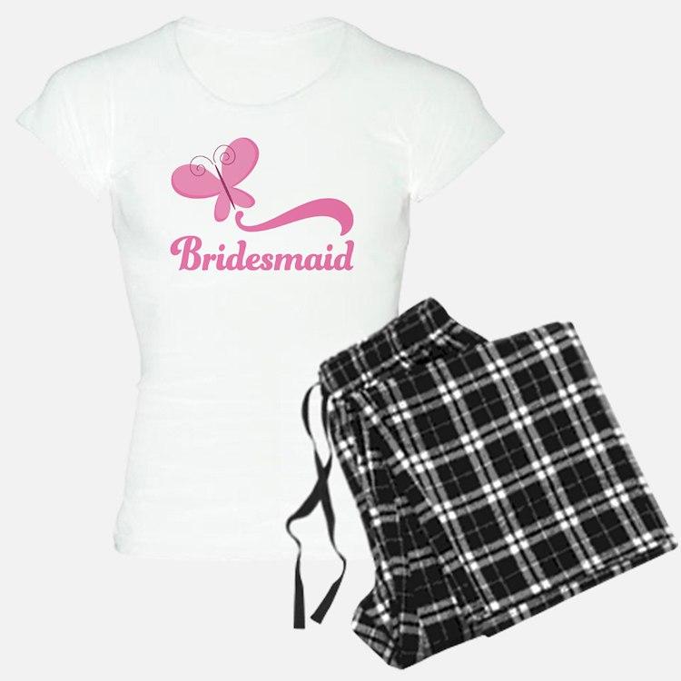 Bridesmaid Pink Butterfly Pajamas