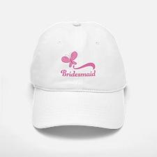 Bridesmaid Pink Butterfly Baseball Baseball Cap