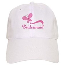 Bridesmaid Pink Butterfly Cap