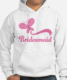 Bridesmaid Pink Butterfly Jumper Hoody