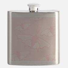 Pale Pink Butterflies. Flask