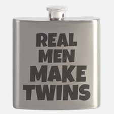 Real Men Make Twins Flask