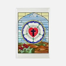 Luther Seal Stained Glass Window Rectangle Magnet