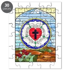 Luther Seal Stained Glass Window Puzzle