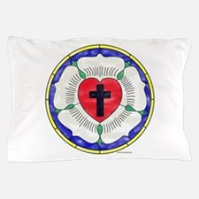 Luther Seal Stained Glass Window Pillow Case