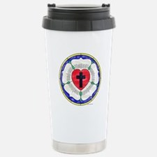Luther Seal Stained Glass Window Travel Mug