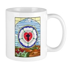 Luther Seal Stained Glass Window Mug