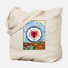 Luther Seal Stained Glass Window Tote Bag