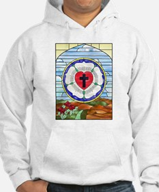 Luther Seal Stained Glass Window Hoodie