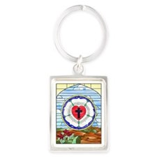 Luther Seal Stained Glass Window Keychains