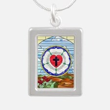Luther Seal Stained Glass Window Necklaces