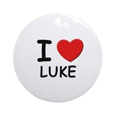 I love Luke Ornament (Round)