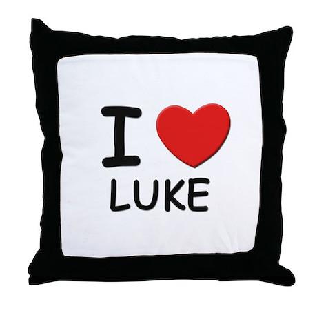 I love Luke Throw Pillow