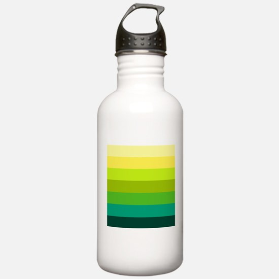 'Green Stripes' Water Bottle