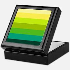 'Green Stripes' Keepsake Box