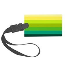 'Green Stripes' Luggage Tag