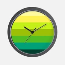 'Green Stripes' Wall Clock