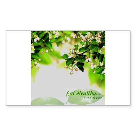 Eat Healthy Sticker (Rectangle)