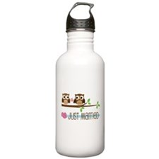 Just Married Owls Water Bottle