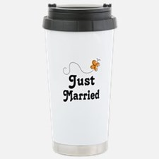 Just Married Butterfly Travel Mug