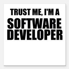 Trust Me, Im A Software Developer Square Car Magne