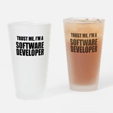 Trust Me, Im A Software Developer Drinking Glass