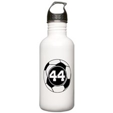 Soccer Number 44 Player Water Bottle