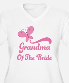 Grandma of the Bride Butterfly T-Shirt