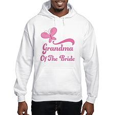 Grandma of the Bride Butterfly Hoodie