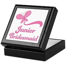 Junior Bridesmaid Butterfly Keepsake Box