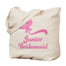 Junior Bridesmaid Butterfly Tote Bag