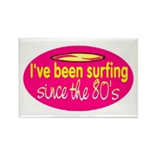 SURFING SINCE THE 80'S Rectangle Magnet
