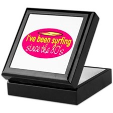 SURFING SINCE THE 80'S Keepsake Box
