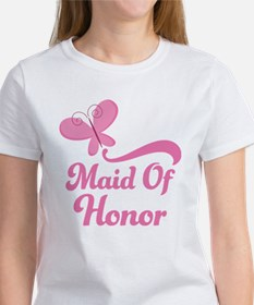 Maid of Honor Butterfly Women's T-Shirt
