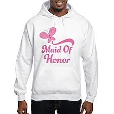 Maid of Honor Butterfly Hoodie Sweatshirt