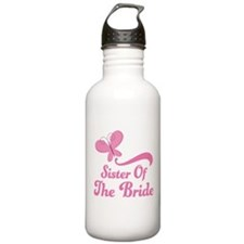 Sister of the Bride Butterfly Water Bottle