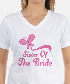 Sister of the Bride Butterfly Shirt