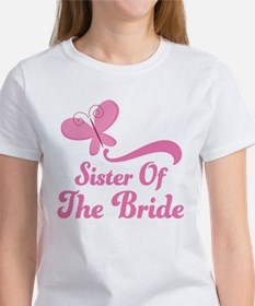 Sister of the Bride Butterfly Women's T-Shirt