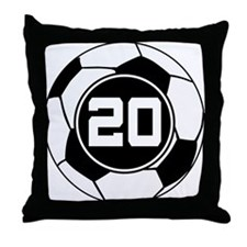 Soccer Number 20 Player Throw Pillow