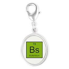 Bs Bullshitium Element Silver Oval Charm