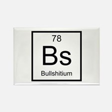 Bs Bullshitium Element Rectangle Magnet